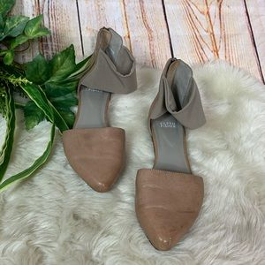Eileen Fisher Allot Tan Ankle Strap Flats